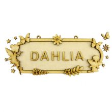 MDF Wood DIY Craft Shapes Room Door Wall YOUR NAME Sign Plaque – Fairy